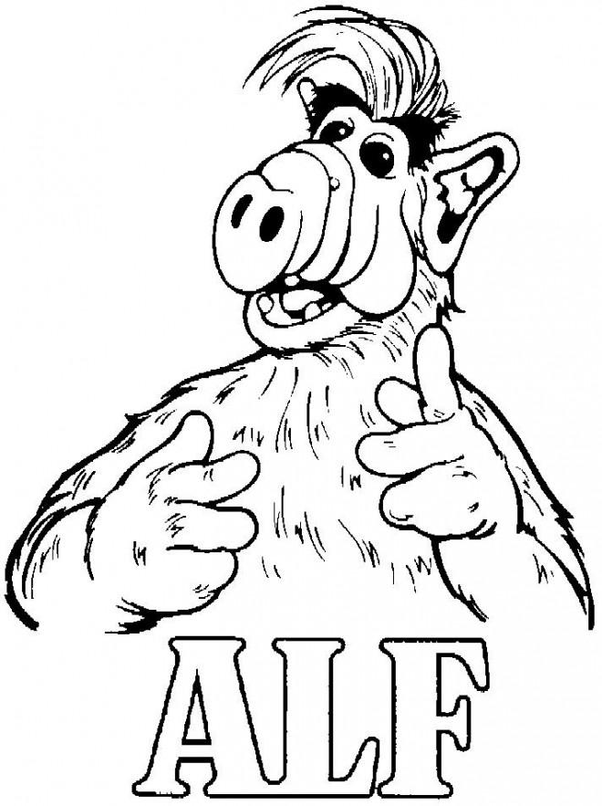Coloriage et dessins gratuits Alf à imprimer