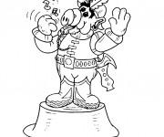 Coloriage et dessins gratuit Alf chante à imprimer
