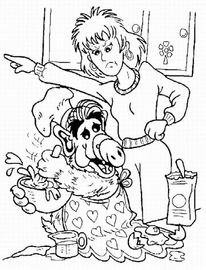 Coloriage et dessins gratuits Alf dessin animé à imprimer
