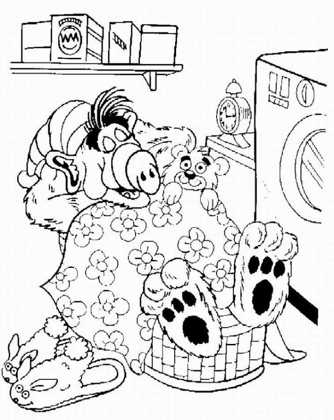 Coloriage et dessins gratuits Alf endormi à imprimer