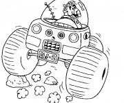 Coloriage et dessins gratuit Alf entrain de conduire à imprimer