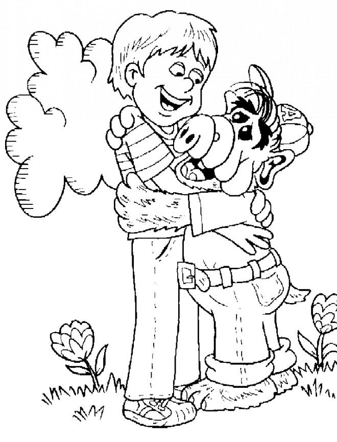 Coloriage et dessins gratuits Alf et Brian à imprimer