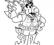 Coloriage Alf soldat