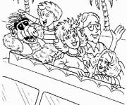 Coloriage et dessins gratuit La famille d'Alf à imprimer