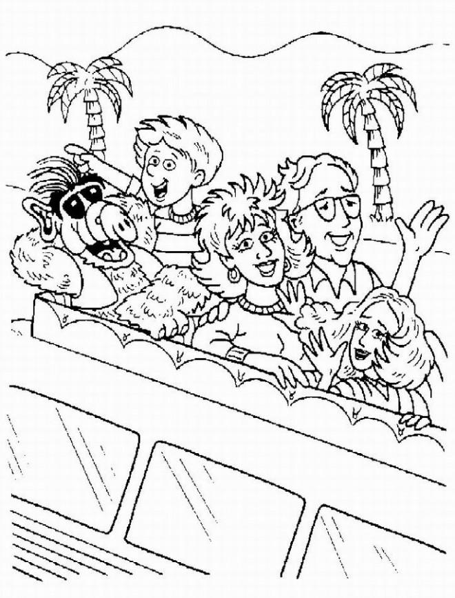 Coloriage et dessins gratuits La famille d'Alf à imprimer