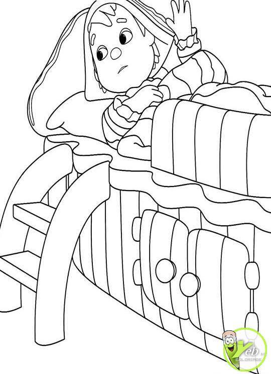 Coloriage et dessins gratuits Andy Pandy endormi à imprimer