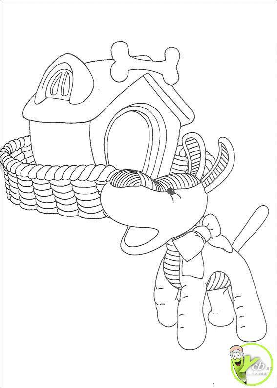Coloriage et dessins gratuits Le chien d'Andy Pandy à imprimer