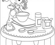 Coloriage Looby Lo  entrain de cuisiner