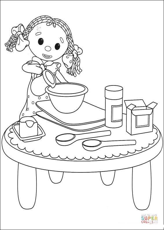 Coloriage et dessins gratuits Looby Lo  entrain de cuisiner à imprimer