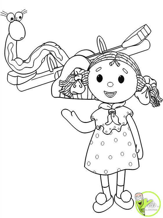 Coloriage et dessins gratuits Looby Lo entrain de jouer à imprimer