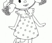 Coloriage Looby Loo: Andy Pandy