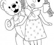 Coloriage Looby Loo et Teddy