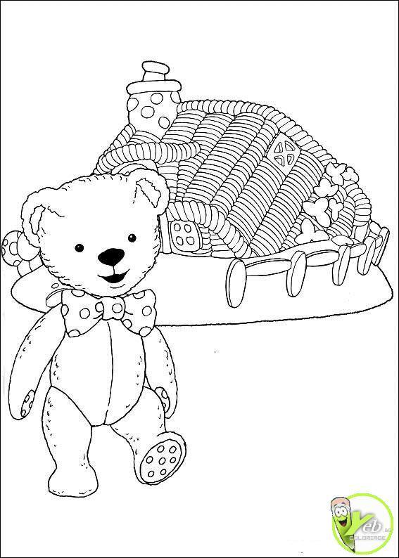 Coloriage et dessins gratuits Teddy Andy Pandy à imprimer