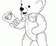 Coloriage et dessins gratuit Teddy s'habille en gant à imprimer