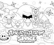 Coloriage Affiche de Jeu Angry Birds