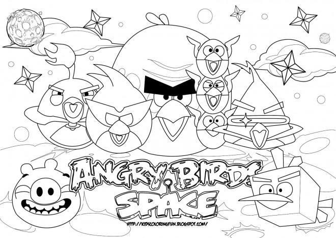 Coloriage et dessins gratuits Affiche de Jeu Angry Birds à imprimer