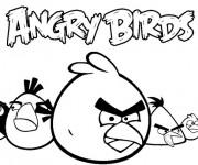 Coloriage Angry Birds à décorer