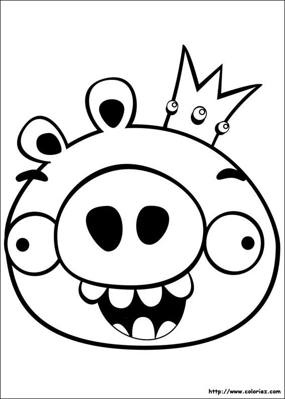 Coloriage Angry Birds à Découper Dessin Gratuit à Imprimer
