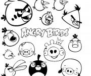 Coloriage Angry Birds en couleur