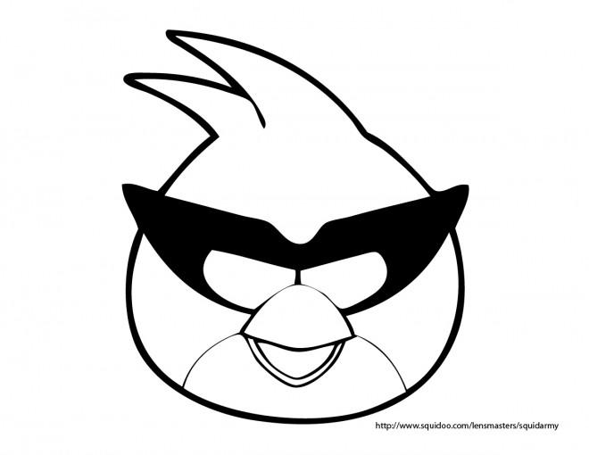 Coloriage et dessins gratuits Angry Birds en vecteur à imprimer