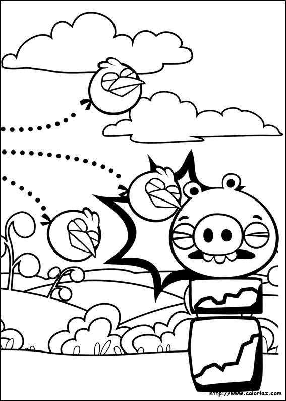 Coloriage et dessins gratuits Angry Birds epic à imprimer