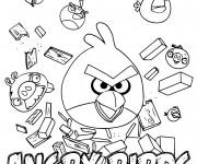 Coloriage et dessins gratuit Angry Birds Jeu Vidéo à imprimer