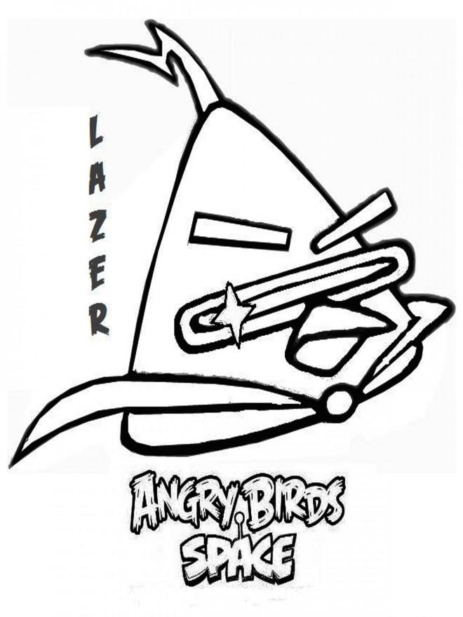 Coloriage et dessins gratuits Angry Birds Lazer à imprimer