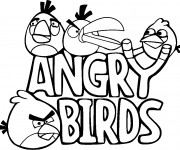 Coloriage Angry Birds Logo