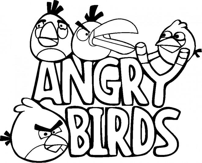 Coloriage et dessins gratuits Angry Birds Logo à imprimer
