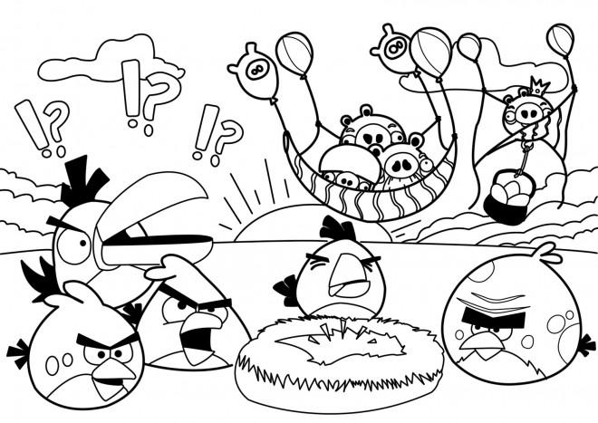 Coloriage et dessins gratuits Angry Birds maternelle à imprimer