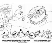 Coloriage et dessins gratuit Angry Birds pour Les Petits à imprimer