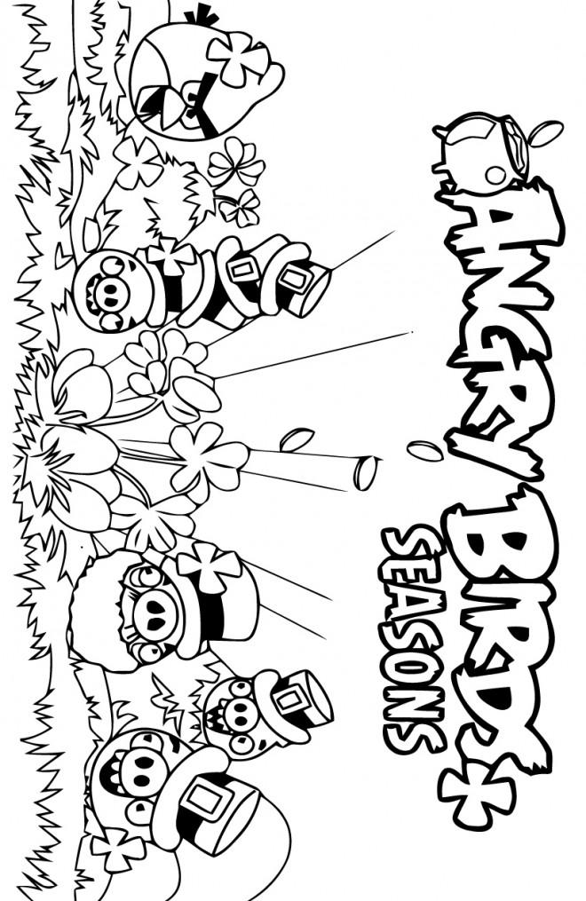 Coloriage et dessins gratuits Angry Birds Seasons à imprimer