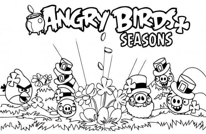 Coloriage et dessins gratuits Angry Birds Seasons en ligne à imprimer