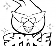 Coloriage Angry Birds Space