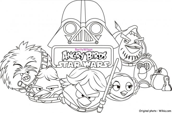 Coloriage et dessins gratuits Angry Birds Star Wars à imprimer