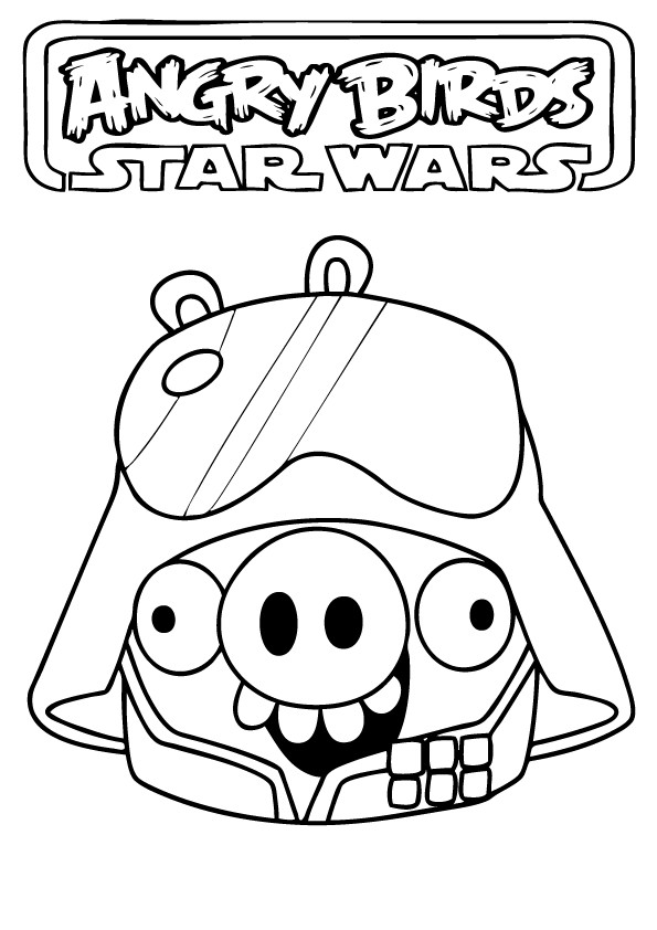 Coloriage et dessins gratuits Angry Birds Star Wars Toons à imprimer