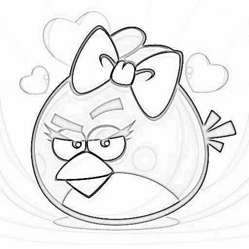 Coloriage et dessins gratuits Angry Birds Stella à imprimer