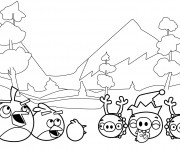 Coloriage Angry Birds stylisé