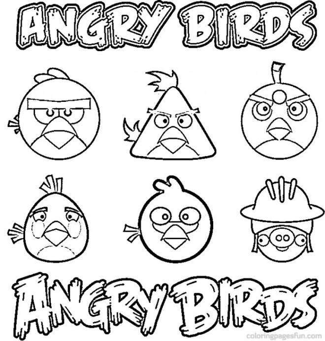 Coloriage et dessins gratuits Angry Birds Transformers à imprimer