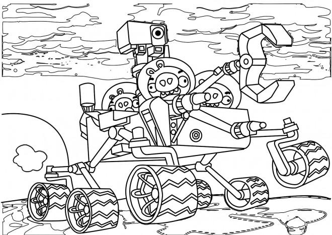 Coloriage et dessins gratuits Angry Birds Transformers magique à imprimer