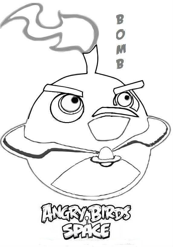 Coloriage Bomb De Angry Birds Dessin Gratuit A Imprimer