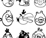 Coloriage les personnages angry birds facile dessin - Angry birds gratuit en ligne ...