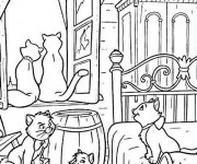 Coloriage Aristochats à colorier