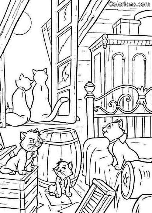 Coloriage et dessins gratuits Aristochats à colorier à imprimer