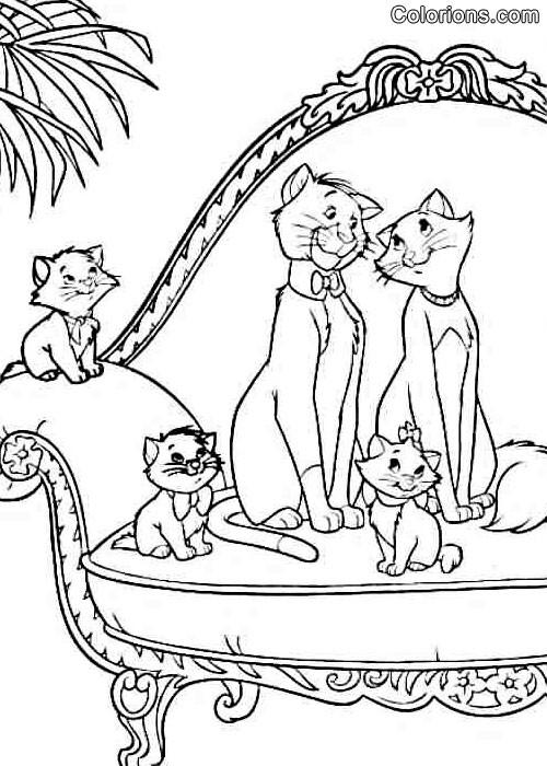 Coloriage et dessins gratuits Aristochats disney à imprimer