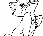 Coloriage Aristochats Marie Disney