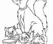 Coloriage Belle image Aristochats