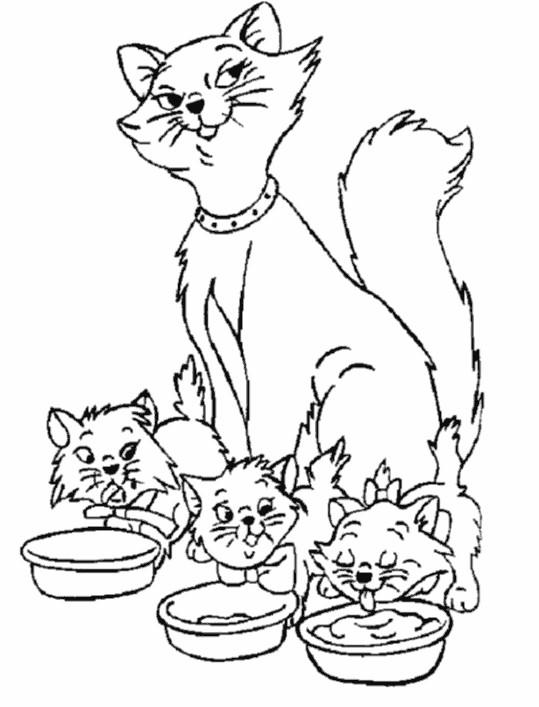 Coloriage et dessins gratuits Belle image Aristochats à imprimer