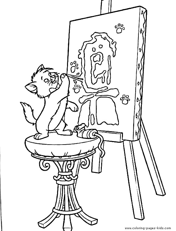 Coloriage et dessins gratuits Berlioz fait de la peinture à imprimer
