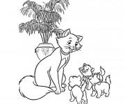 Coloriage Duchesse et ses petits